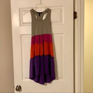 BCBG Maxazria XXS High Low Ruffled Dress